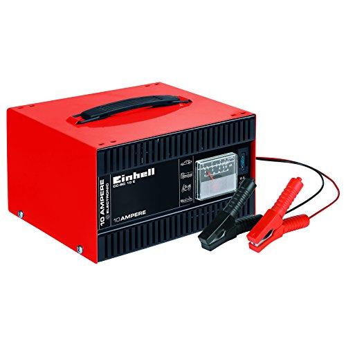 einhell batterie ladegeraet Einhell Batterie-Ladegerät CC-BC 10 E (für Batterien von 5 bis 200 Ah, 12 V Ladespannung, eingebautes Amperemeter, Ladeelektronik, Tragegriff)