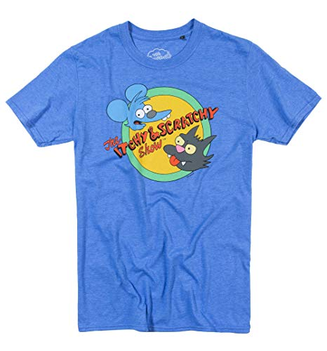 Mens The Simpsons Itchy and Scratchy T Shirt