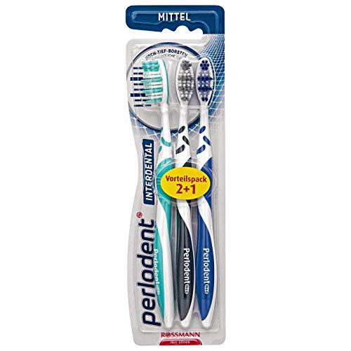 Prokudent/Perlodent interdental Zahnbürste mittel 1 x 3 Stück sorgfältig abgerundete Borsten, Anti-Rutsch-Griff erhältlich in versch. Farben - nicht wählbar!