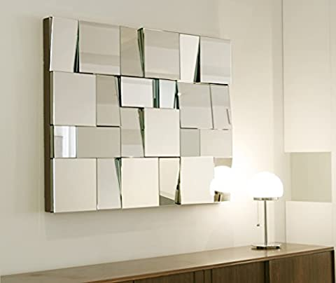 Art Deco Rectangular Mosaic Multi Facet Mirror by Belle Maison