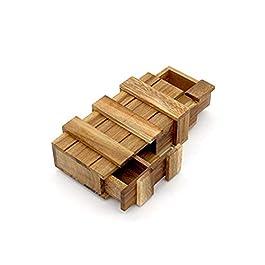 Ndier Magic Box Puzzle Rompicapo Scatola Trucco Segreto Intelligenza Intelligenza Magico Gift Box Legno Trucco Puzzle Giochi Magic Box in Legno con Extra Sicuro cassetto Segreto
