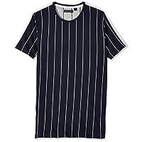 Brave Soul Men's MTS-69FLYNN T-Shirt, Multicolour (Rich Navy/Optic White), Medium