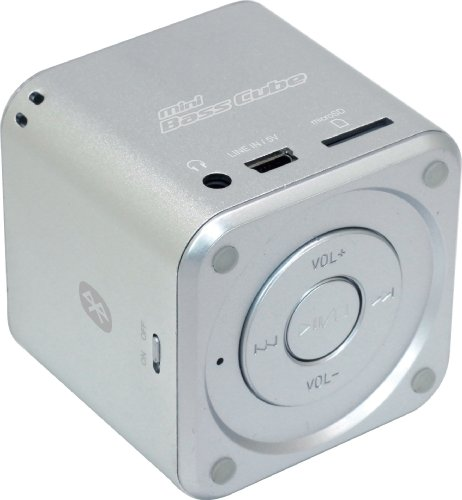 Jaytech 77002420 Bluetooth Mini Bass Cube aktiv-Lautsprecher (1 Stück, 3,5mm Klinke, 3 Watt, USB) Cube Mp3