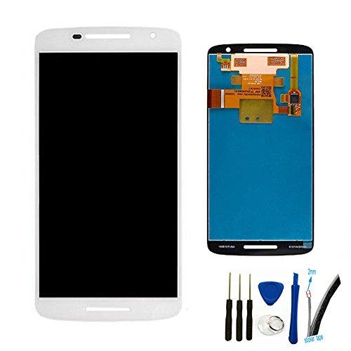 General LCD Display Touchscreen Bildschirm Front Komplettes Glas Für Droid Maxx 2 XT1565 (weiße)