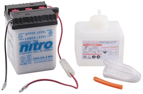 6n 4-2A 4 NITRO-WA-N- Batteria Moto aperto con acido Pack