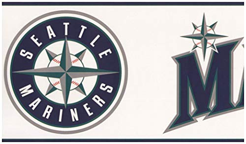 eattle Mariners MLB Baseball Team Fan Sport Wallpaper Border Modern Design, Roll-15' x 6'' ()