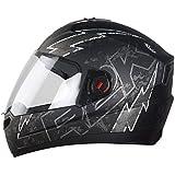 Steelbird SBA-1 R2K LIVE Full Face Helmet in Matt Finish with Plain Visor (Large 600 MM, Matt Black/Grey)