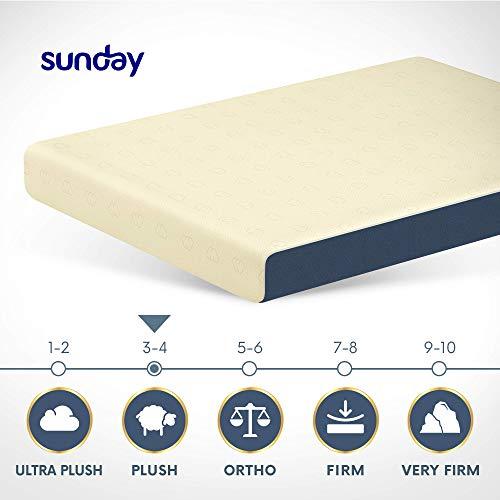 Sunday 100% Latex Mattress. LGA Licensed. King Size - 72 x 78 x 8 Inch, Off-White Image 3
