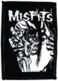 MISFITS Skull and Eyeball Pushead Patch Flicken, Officially Licensed Products Classic Rock Artwork, Iron-On / Sew-On, 4