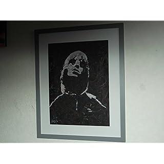 Liam Gallagher. Oasis, handbemalt, montiert, gerahmt (UK) Art