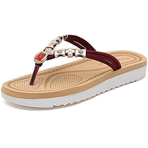 Fortan 1 paio Pattini piani delle donne sandali per le