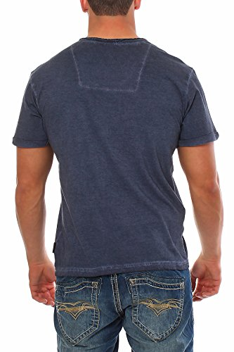 INDICODE Herren T-Shirt Kurzarmshirt Shirt Polo Basicshirt Herrenshirt DAVE Navy
