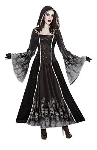 Bristol Novelty AC366 Vergessene Seelen Kostüm für Damen, schwarz, UK Size 10-14