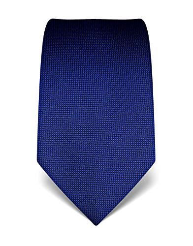 Vincenzo Boretti Herren Krawatte reine Seide strukturiert edel Männer-Design zum Hemd mit Anzug für Business Hochzeit 8 cm schmal/breit royalblau -