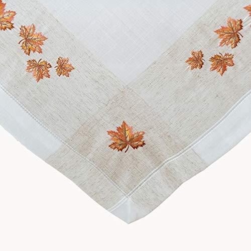 x 85 cm beige Mitteldecke Herbst Tischdeko Herbstdeko Landhaus Blätter ()