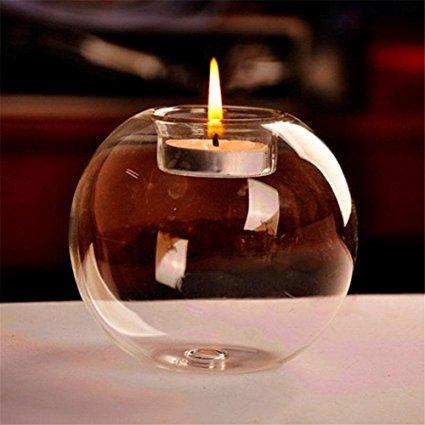 Porta velas clásico de cristal, para decoración de boda, bar o fiesta
