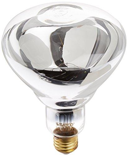 Klar Satco-glühlampe (Satco Produkte S4750125r401Medium Boden klar Infrarot Wärme Lampe 125.00 W 120.00 voltsV)