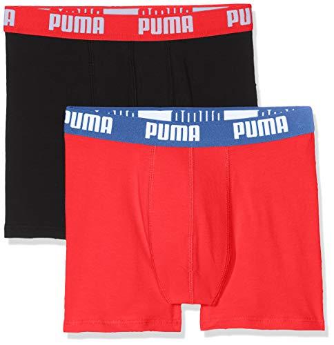 Puma Jungen Basic Boxer 2p Unterhose, (Red/Black 786), 9-10 Jahre (Herstellergröße: 140) (2er Pack)