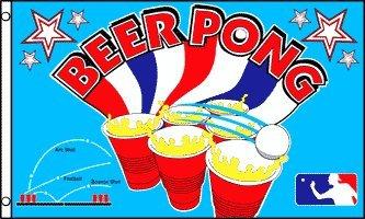 AZ FLAG Drapeau BIÈRE Pong 150x90cm - Drapeau Beer Pong 90 x 150 cm - Drapeaux