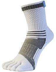 Blanc / Gris Sport Tennis Toe chaussettes de Toe Toe