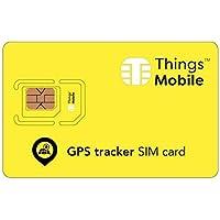 SIM-Karte für GPS TRACKER - Things Mobile - mit weltweiter Netzabdeckung und Mehrfachanbieternetz GSM/2G/3G/4G. Ohne Fixkosten und ohne Verfallsdatum. 10 € Guthaben inklusive
