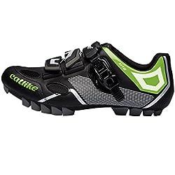 Catlike Sirius MTB 2016, Zapatillas de Ciclismo de Montaña Unisex Adulto, Negro (Negro/Verde 000), 45 EU