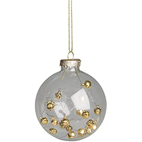 Gold Bead Whirlwind Bauble Christmas Tree Decoration