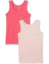 Tommy Hilfiger 2p Cami Top Print, Camiseta sin Mangas para Niños