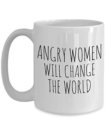 Regalos feministas Taza del feminismo Las mujeres enojadas cambiarán la taza de café mundial