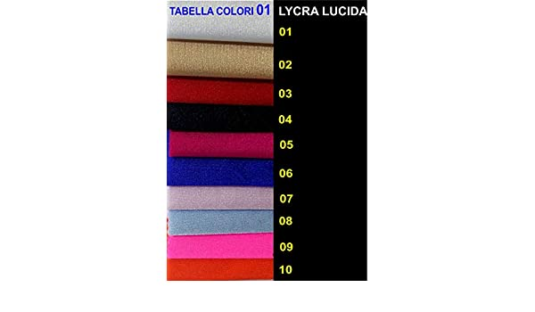 TESSUTO LYCRA LICRA ELASTICIZZATO LUCIDA//OPACO 0,50 x 1,50 mt DANZA BODY COSTUMI