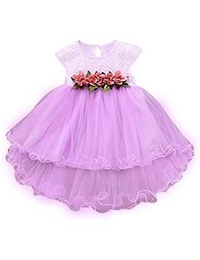 Vovotrade 0-6 años Niñas bebés del niño Verano Floral Morado Vestido princesa Boda del partido Tulle Vestidos...