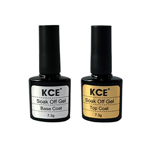 UV Gel Nagellack , Yogogo 2 Stück Top Coat + Base Coat (Klar) Mantel Top Coat