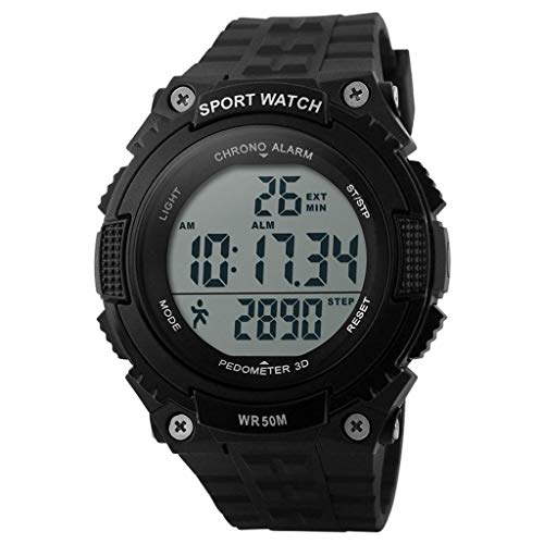 JBP Max Mens Sport Waterproof Watch Multi-Funktion Digital Watch Men Es Sports Wasserdichte Elektronische Uhr Outdoor-Reituhr Genaue Stoppuhr,B