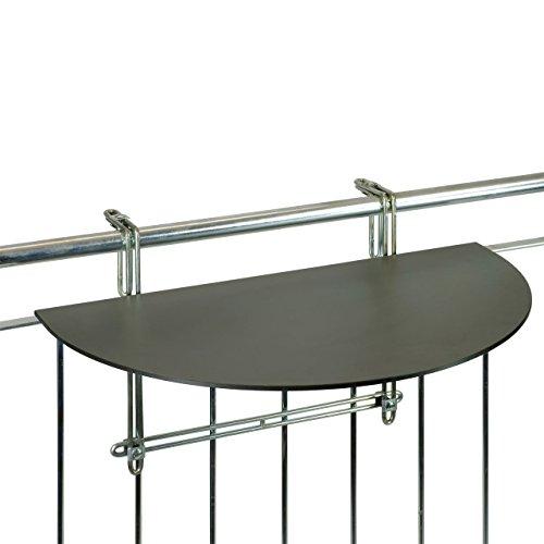 Balkonklapptisch, Balkon-Hängetisch mit HPL-platte, anthrazit, 43 x 75cm