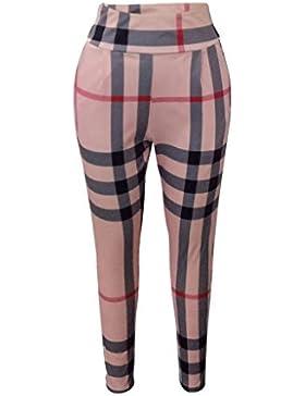Yoga Pantalones para Mujer Running Fitness Deportivos Pantalones Lápiz Moda Push up Skinny Leggings Casuales Pantalones...