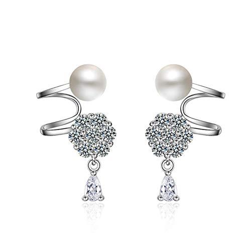Schönheit Kostüm Piercing - DC CLOUD Schneeflocke Ohrringe Frauen Ohrringe Ohrringe Piercing-Ohrringe Glückliche Ohrringe Einzigartige Ohrringe Feste Ohrringe Perlenohrringe