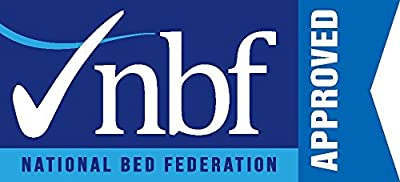 Happy Beds Memory Flex Bonnell Spring Orthopaedic Memory Foam Mattress with Fabric Divan Base/Various Drawer Options/Buttoned Headboard