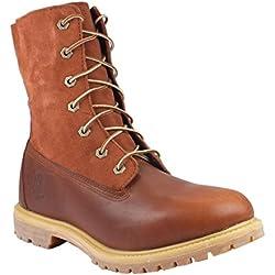 Timberland Authentic Teddy Fleece WP Rust Womens Boots Size 38 EU