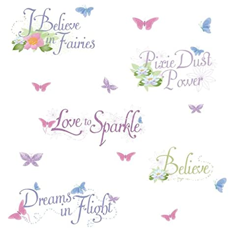 RoomMates Stickers muraux repositionnables pour enfants Motif Disney Fairies