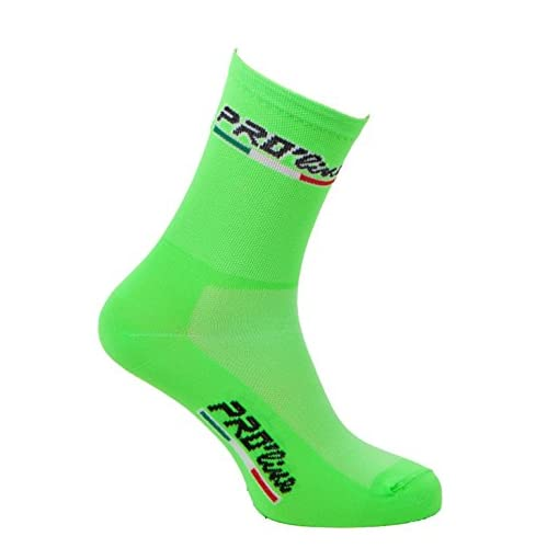 Calze Calzini Ciclismo Verde Fluo all Green Cycling Socks
