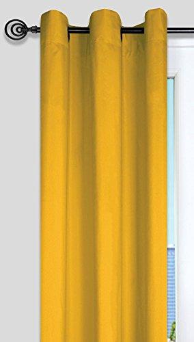 Lovely casa r64689021 nelson – tenda con occhielli, in polietilene/cotone, 135 x 240 cm, 100% cotone, giallo, 135 x 240 cm