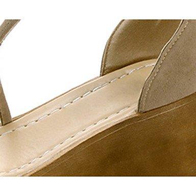 LvYuan Da donna Sandali Comoda Scamosciato Estate Casual Footing Comoda Più materiali Polacche Nero Cachi 7,5 - 9,5 cm Black