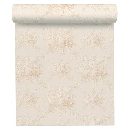 A.S. Création Vliestapete Chateau 5 Tapete mit Blumen floral 10,05 m x 0,53 m beige creme Made in Germany 345085 34508-5 - Neo Chateau