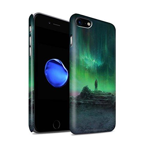 Offiziell Chris Cold Hülle / Matte Snap-On Case für Apple iPhone 7 / Rest Muster / Fremden Welt Kosmos Kollektion Polarlicht