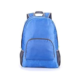 GEZICHTA Sport-Rucksack, multifunktional, Nylon, große Kapazität, Outdoor-Reiserucksack, wasserdicht und mit Reißverschluss für Männer und Frauen, Kinder im Freien oder auf Reisen, dunkelblau