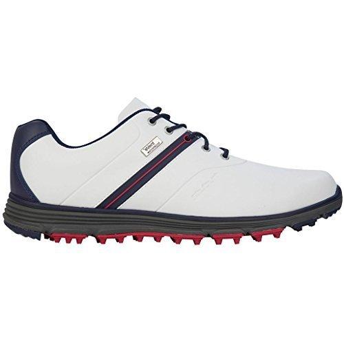 Stuburt 2017 Vapour eVent Waterproof Spikeless Lightweight Mens Golf Shoes White/Midnight 10UK