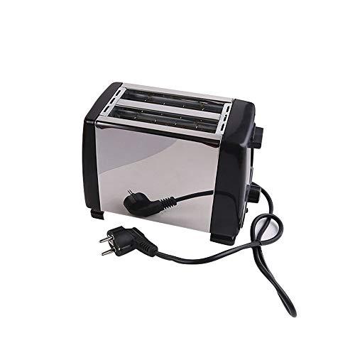 LAIY Halbautomatische Brotmaschine, Toaster aus rostfreiem Küchenstahl, 7 Gangstufen mit 2 Stück Mini-Haushalts-Toaster, elektrischem Heizdraht, Backen, Heizen und Auftauen -