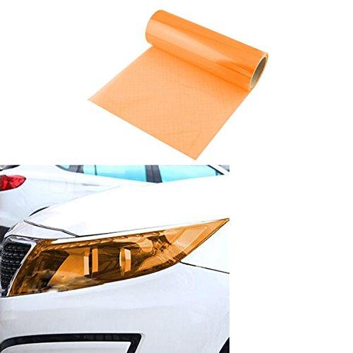 SMKJ Scheinwerfer Folie Tönungsfolie Aufkleber für Auto Scheinwerfer Rückleuchten Blinker Nebelscheinwerfer Gr.200cm x 30cm (Orange)