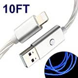 iPhone Ladekabel mit LED-Licht für 3M iPod/iPhone/iPad Typ A Stecker zu Lightning Stecker