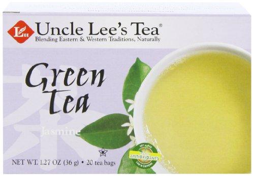 Uncle Lee's Tea Green Tea - Jasmine - Case of 6 - 20 Bags -